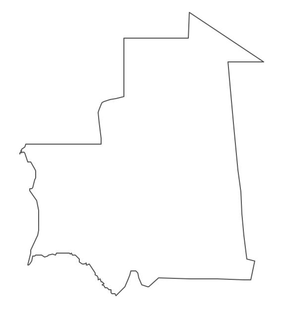 Geo Map - Africa - Mauritania Contour