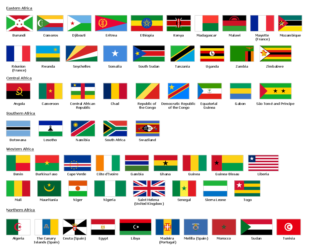 Design elements - Africa flags