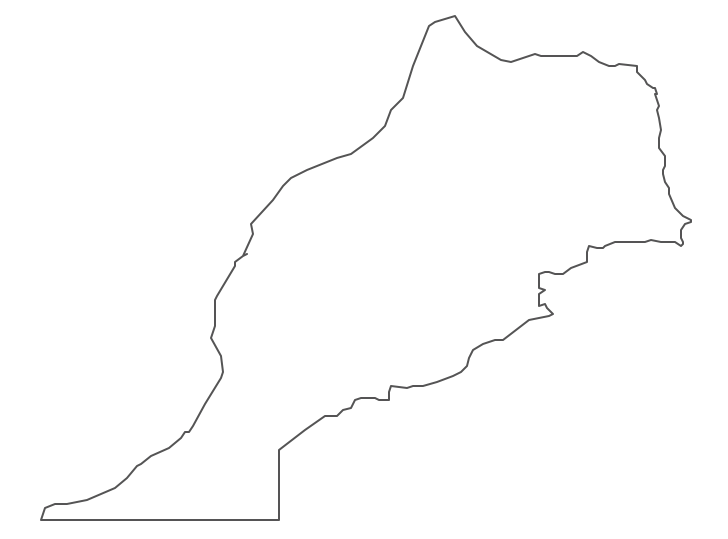 Geo Map - Africa - Morocco Contour