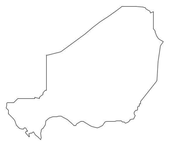 Geo Map - Africa - Niger Contour
