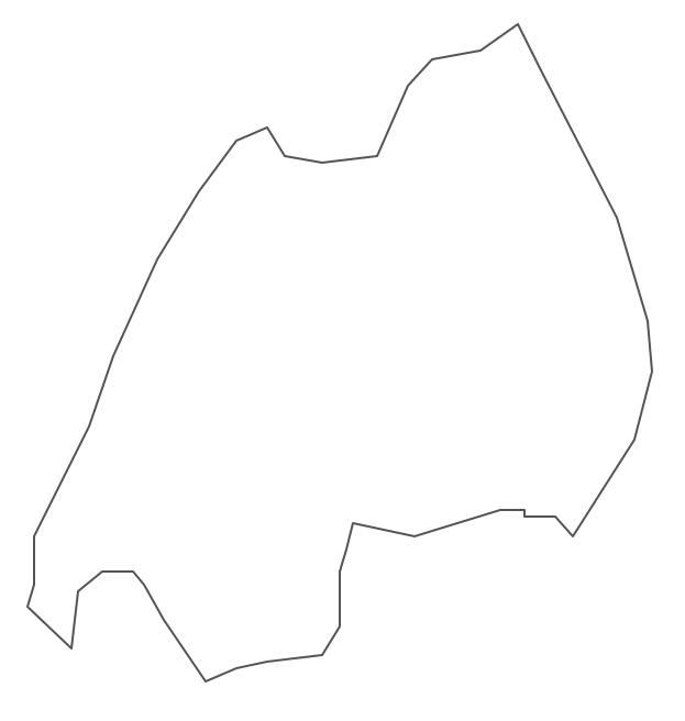 Geo Map - Africa - Rwanda Contour