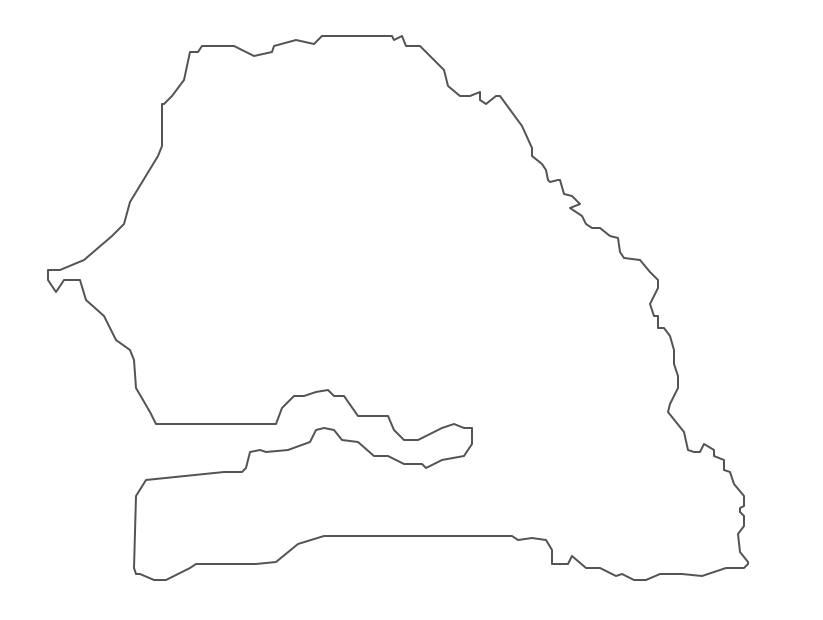 Geo Map - Africa - Senegal Contour