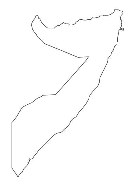 Geo Map - Africa - Somalia Contour