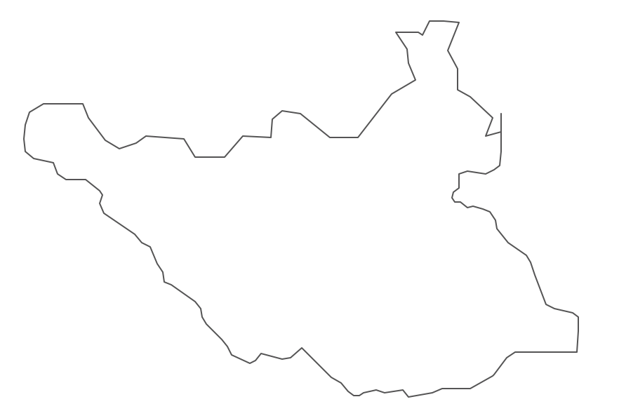 Geo Map - Africa - South Sudan Contour