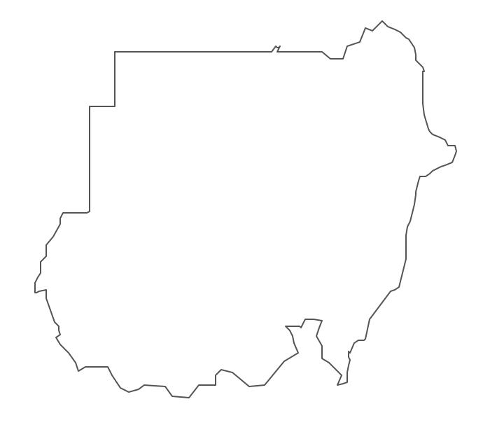 Geo Map - Africa - Sudan Contour