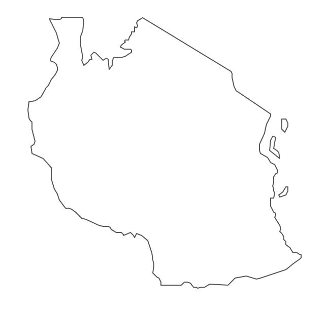 Geo Map - Africa - Tanzania Contour