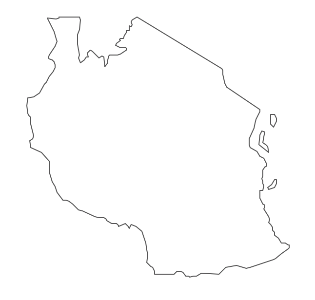 Geo Map Africa Tanzania - Tanzania map download