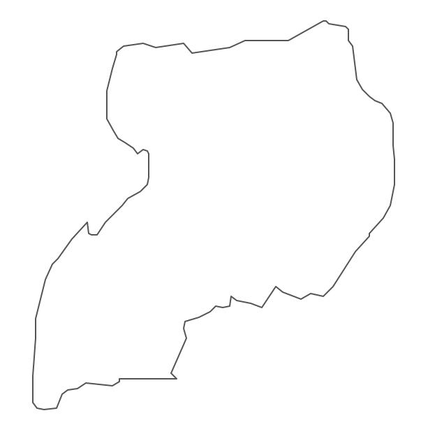 Geo Map - Africa - Uganda Contour