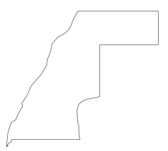 Geo Map - Africa - Western Sahara Contour