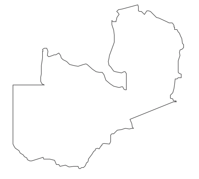 Geo Map - Africa - Zambia Contour