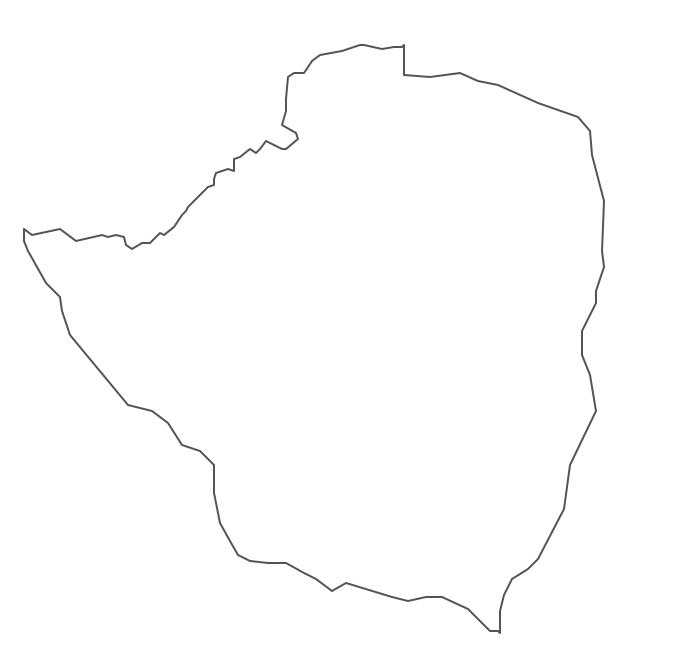 Geo Map - Africa - Zimbabwe Contour