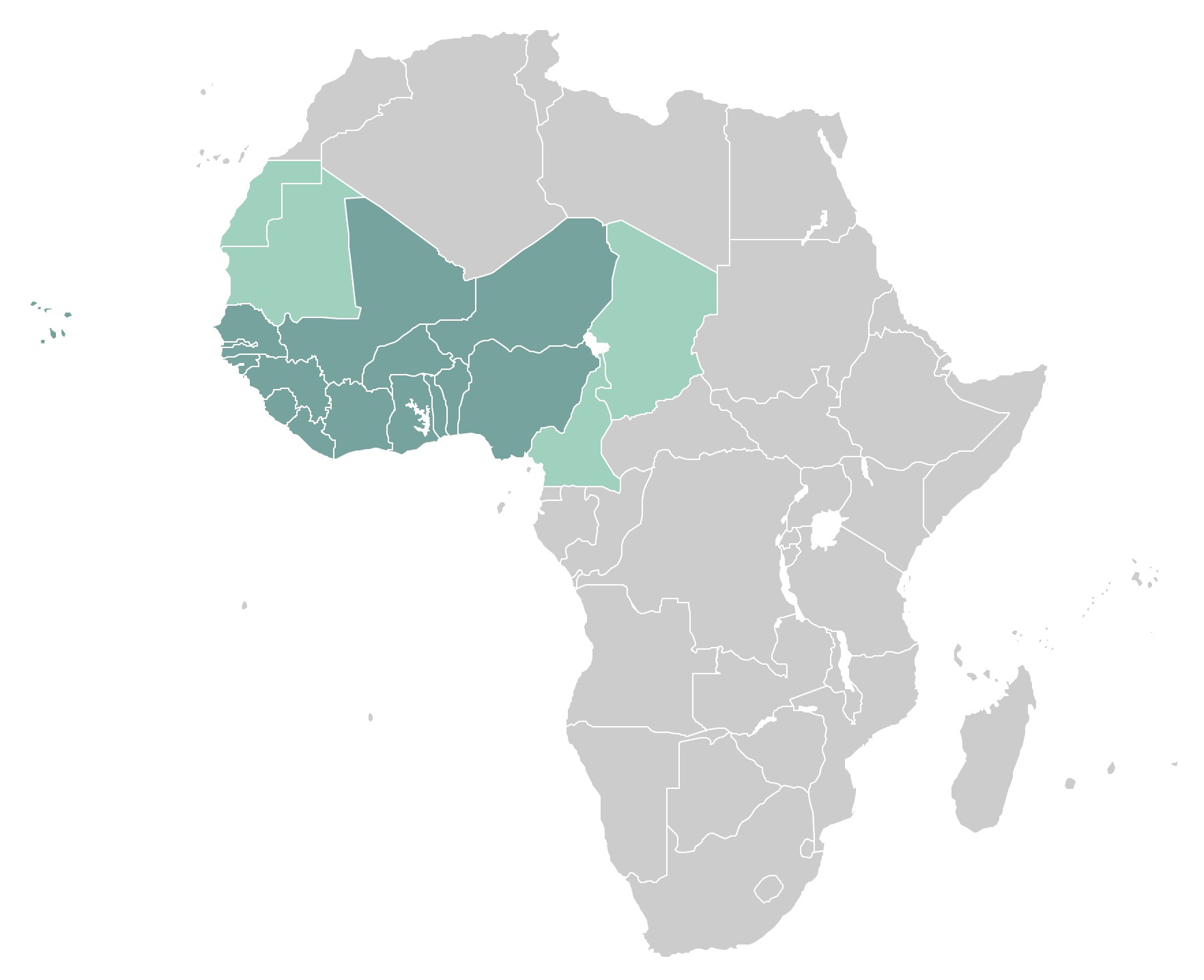 West Africa countries