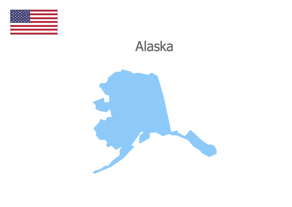 Map of the States USA - Alaska