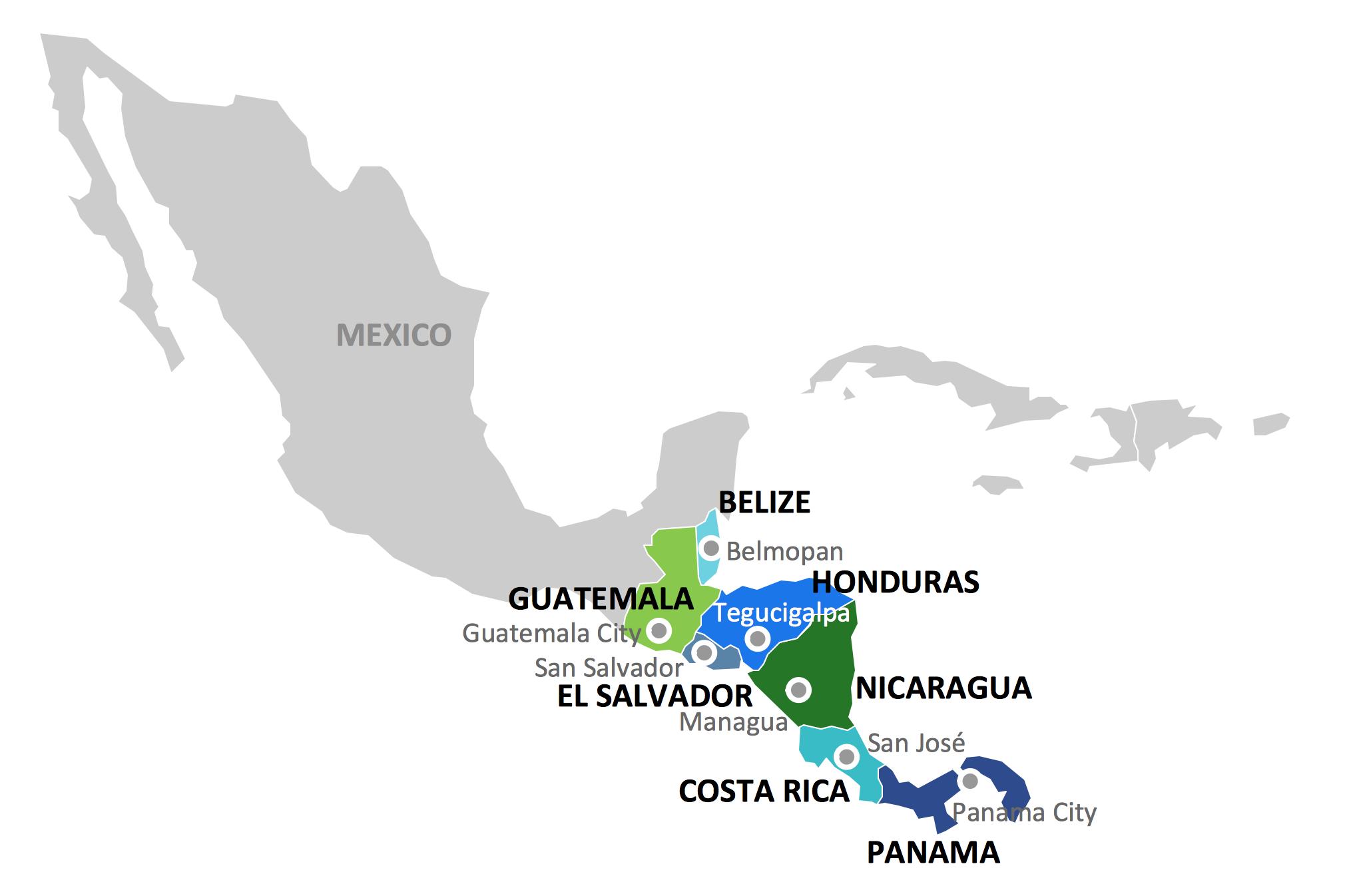 Geo Map of Americas
