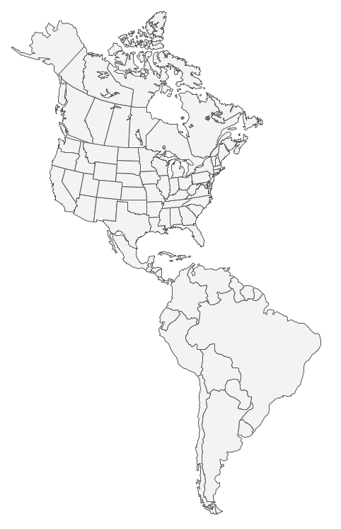 Map Of America Drawing.Geo Map Of Americas