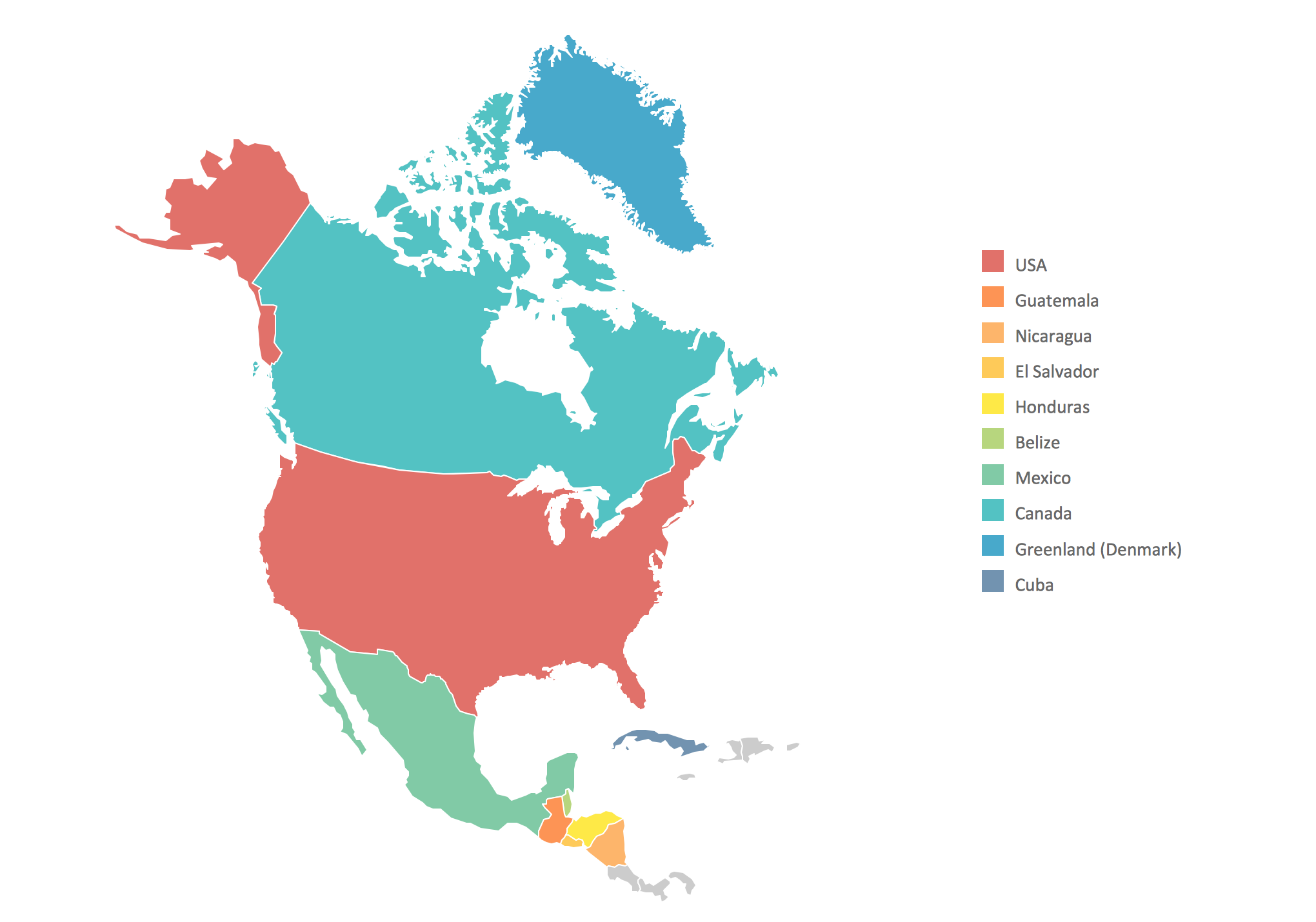 Geo map North America