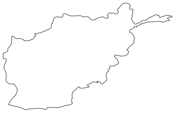 Geo Map - Asia - Afghanistan Contour