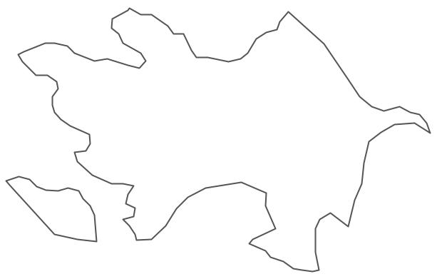 Geo Map - Asia - Azerbaijan Contour