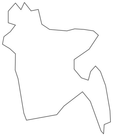 Geo Map - Asia - Bangladesh Contour