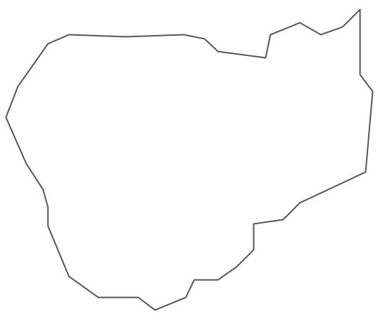 Geo Map - Asia - Cambodia Contour