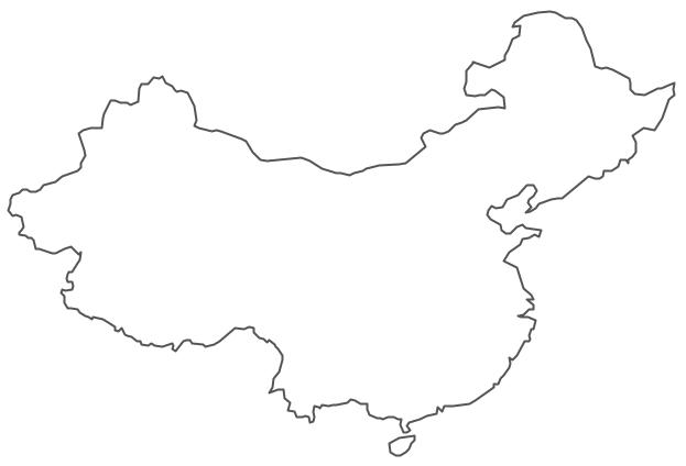 Geo Map - Asia - China Contour