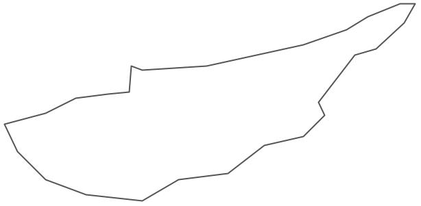 Geo Map - Asia - Cyprus Contour