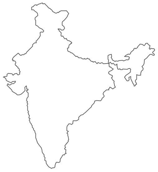 Geo Map - Asia - India Contour