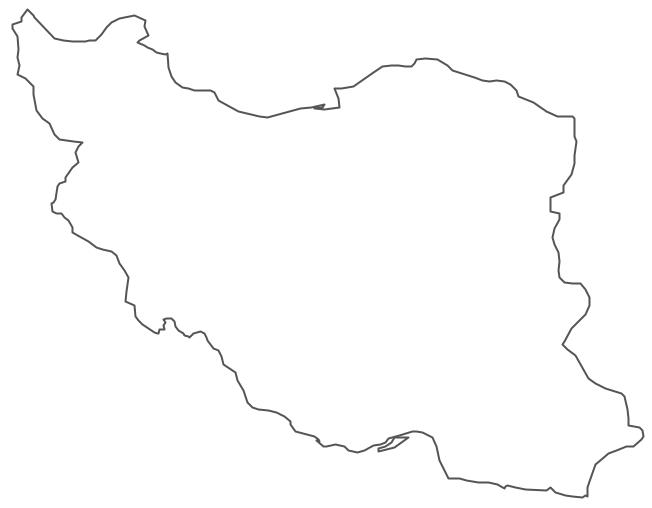 Geo Map - Asia - Iran Contour