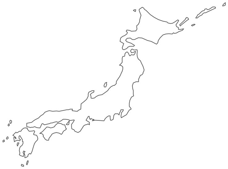 Geo Map Asia Japan - Japan map black and white