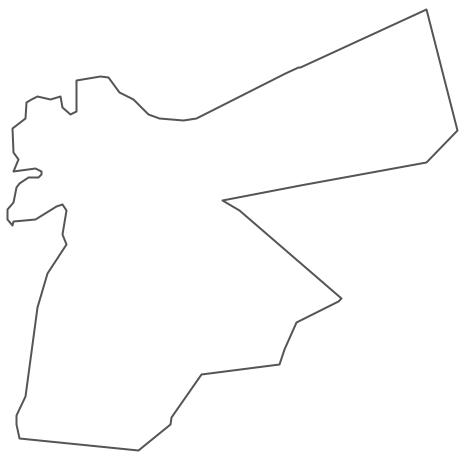 Geo Map - Asia - Jordan Contour