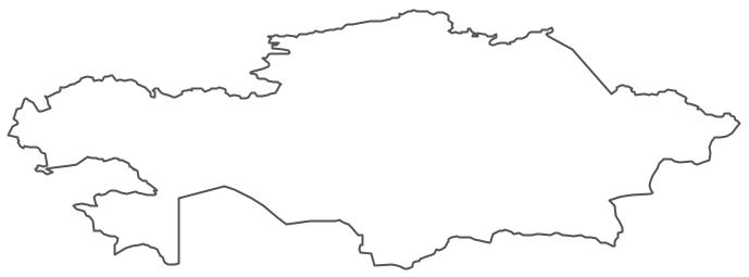 Geo Map - Asia - Kazakhstan Contour