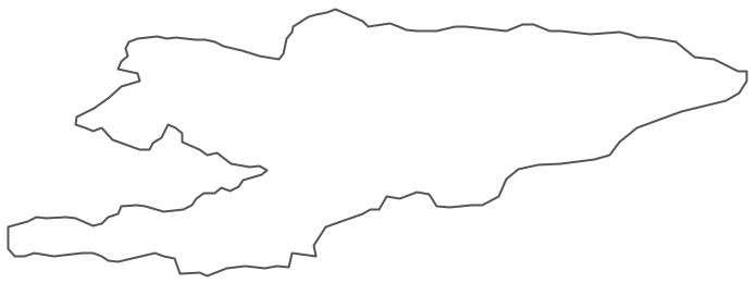 Geo Map - Asia - Kyrgyzstan Contour
