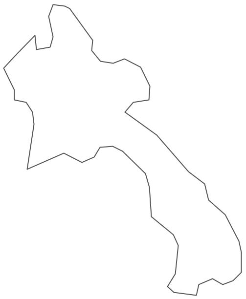 Geo Map - Asia - Laos Contour