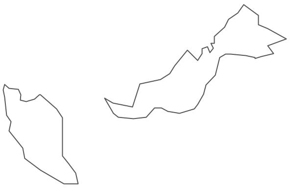 Geo Map - Asia - Malaysia Contour