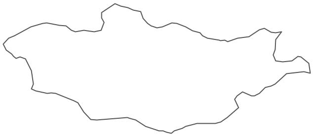 Geo Map - Asia - Mongolia Contour