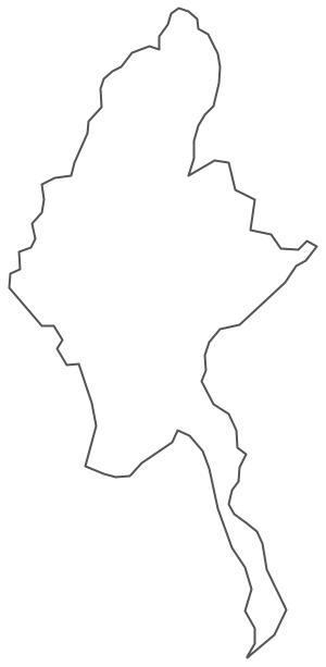 Geo Map - Asia - Myanmar Contour
