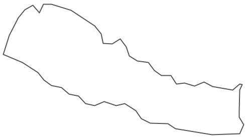 Geo Map - Asia - Nepal Contour