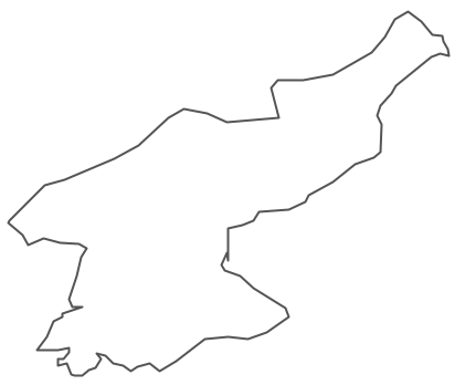 Geo Map - Asia - North Korea Contour