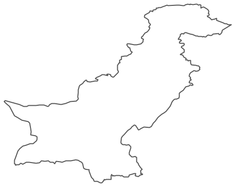 Geo Map - Asia - Pakistan Contour