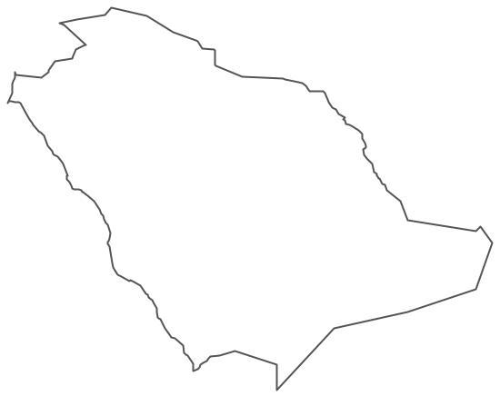 Geo Map - Asia - Saudi Arabia Contour