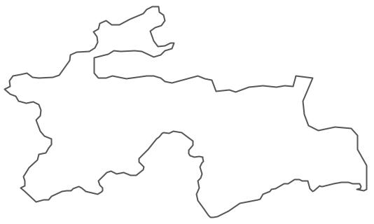Geo Map - Asia - Tajikistan Contour