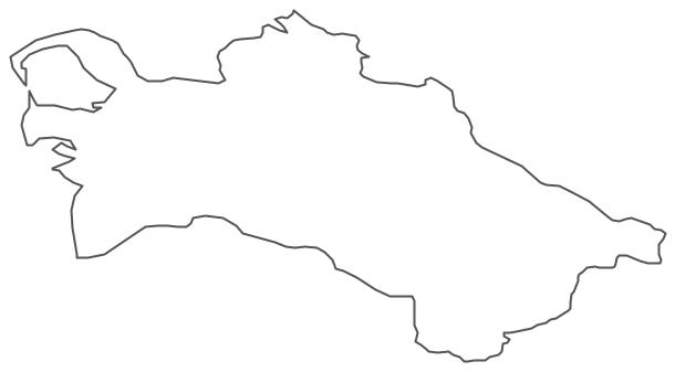 Geo Map - Asia - Turkmenistan Contour