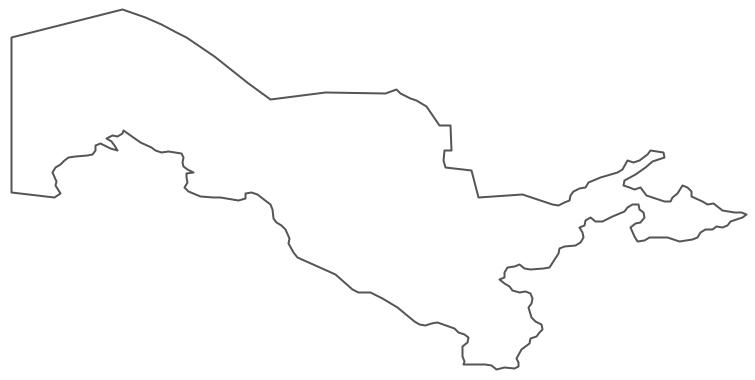 Geo Map - Asia - Uzbekistan Contour