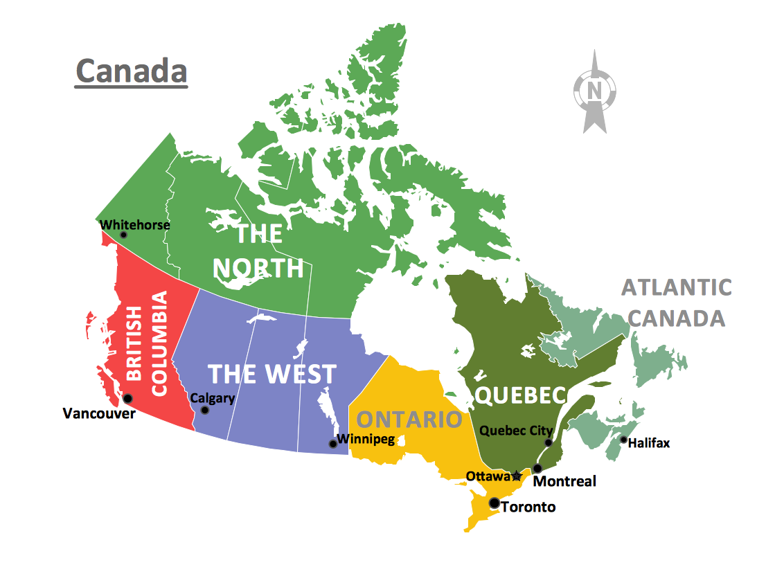 Quebec On Map Of Canada.Geo Map Canada Quebec