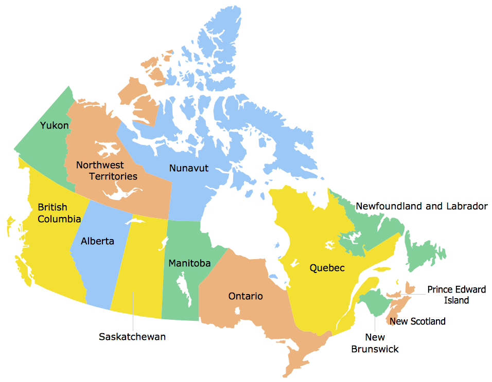 Geo Map Canada Quebec: Map Of Provinces Of Canada At Infoasik.co