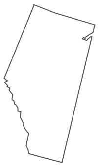 Geo Map - Canada - Alberta Contour