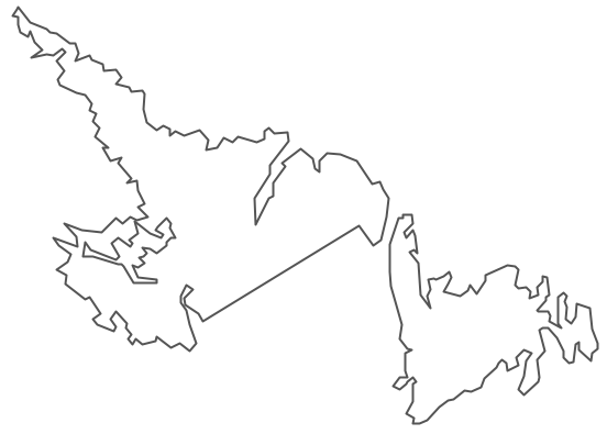 Geo Map - Canada - Newfoundland and Labrador Contour