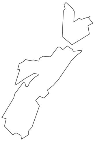 Geo Map - Canada - Nova Scotia Contour