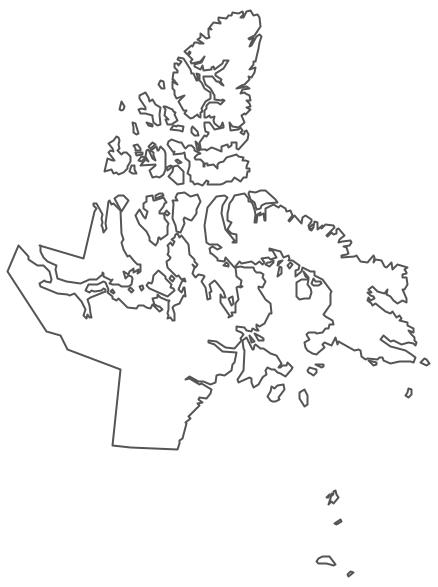 Geo Map - Canada - Nunavut Contour