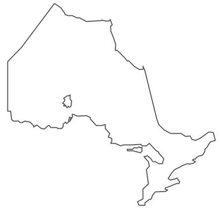 Geo Map - Canada - Ontario Contour